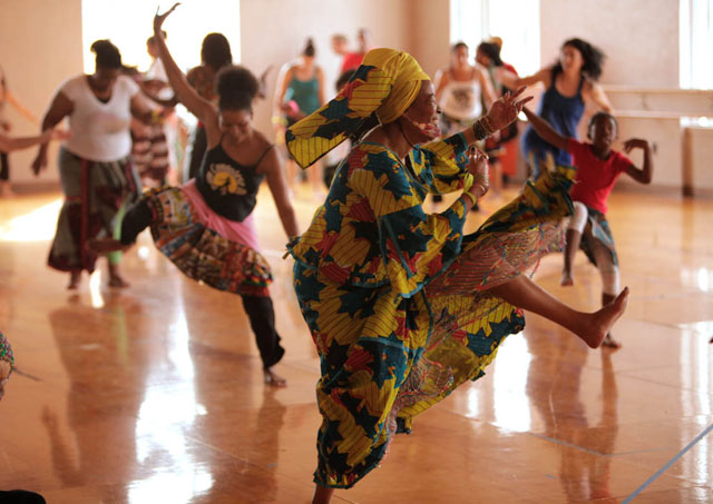 Dancing at the Malonga Casquelourd Center for the Arts