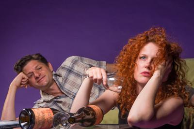 Gabriel Marin and Marilee Talkington in Rapture, Blister, Burn; photo: David Allen