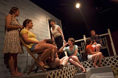 Susannah Lee, Monica Ammerman, Kailah Cayou, Annabelle King, Miranda Hanrahan, Emily Ludlow and Amy Nowak in Pleiades.