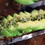 Springtime Avocado Toast with Green Olive Relish and Lemon