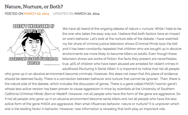 From Nicole Rossi's blog Under the Microscope