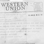 A telegram from the Army after a U.S. solider went missing during World War II. Ann White/Flickr