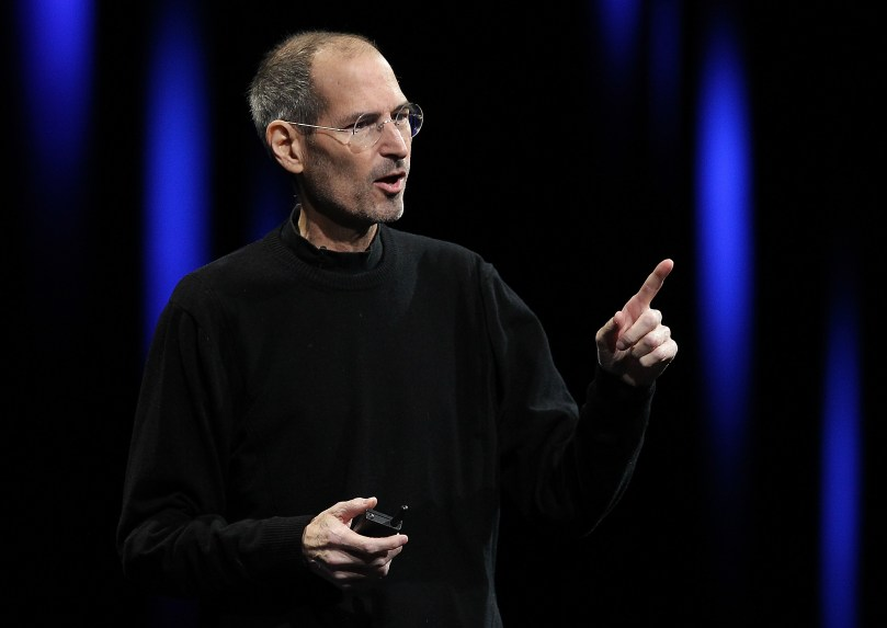 Apple CEO Steve Jobs delivers the keynote address at the 2011 Apple World Wide Developers Conference on June 6, 2001 in San Francisco. (Photo by: Justin Sullivan/Getty Images)