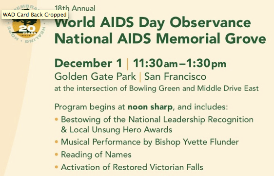 http://www.aidsmemorial.org/events/world-aids-day-youth-scholarship-program