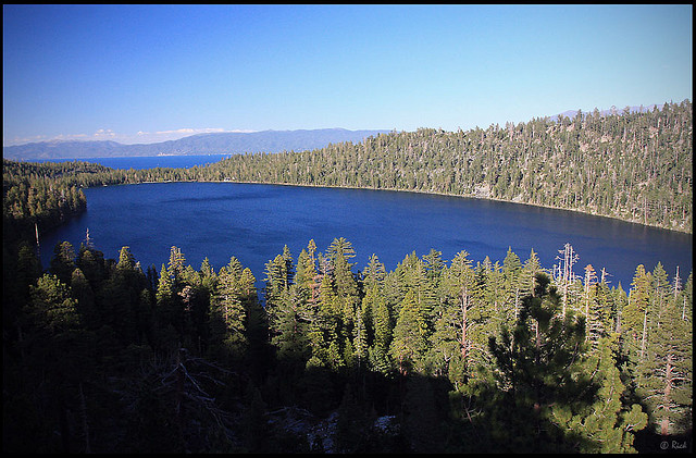 Cascade Lake, foreground, and Lake Tahoe, background. Photo by rickz/Flickr.