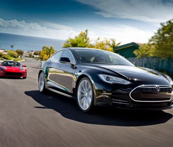 Tesla Motors' Model S (right) is the second model it has released. The Roadster (left) was its first. (Tesla Motors)