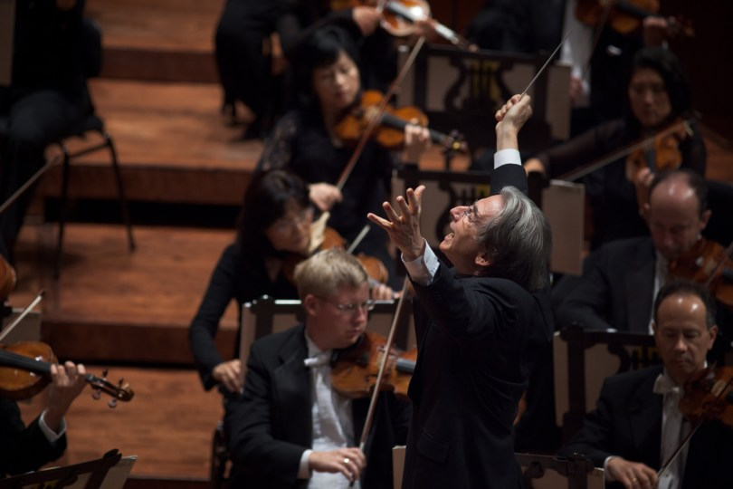 San Francisco Symphony Music Director Michael Tilson Thomas conducts. (Courtesy San Francisco Symphony)