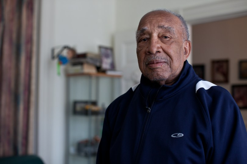 Floyd Jones has attended the Jones Memorial United Methodist Church for the last 60 years. (Deborah Svoboda/KQED)