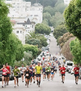 Runners in the San Francisco Marathon helped make San Francisco one of the most active and skinny counties in the country. Photo: edwardopilopilous/ Flickr