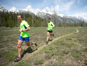 Mike Wolfe and Hal Koerner are expert ultrarunners attempting to set a record running up Mount Whitney. (Photo courtesy of North Face).