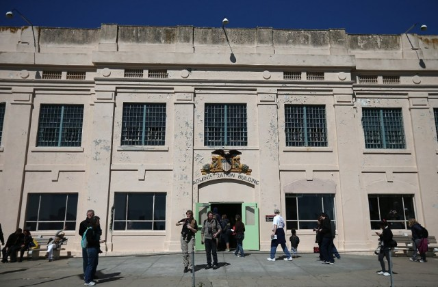 Tourists at Alcatraz, a National Park Service facility that's closing as part of a federal government shutdown.(Justin Sullivan/Getty Images).