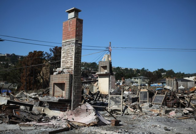The explosion of a gas pipeline in San Bruno on Sept. 9, 2010, sparked a fire that destroyed 38 homes.