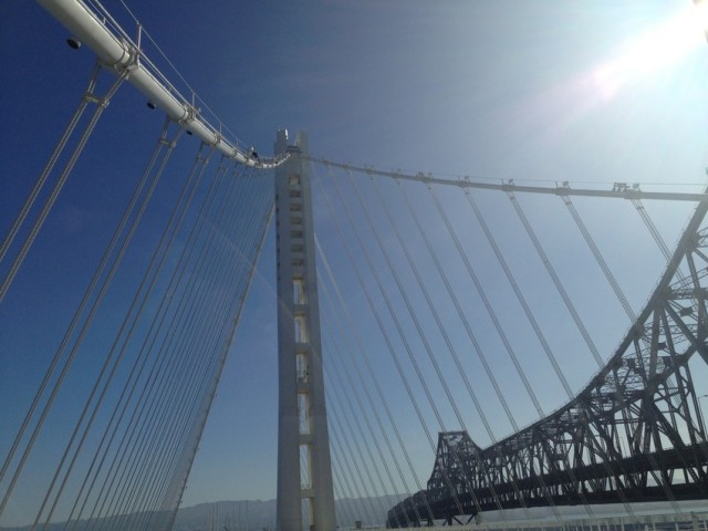 The Bay Bridge's new eastern span. (Isabel Angell / KQED)