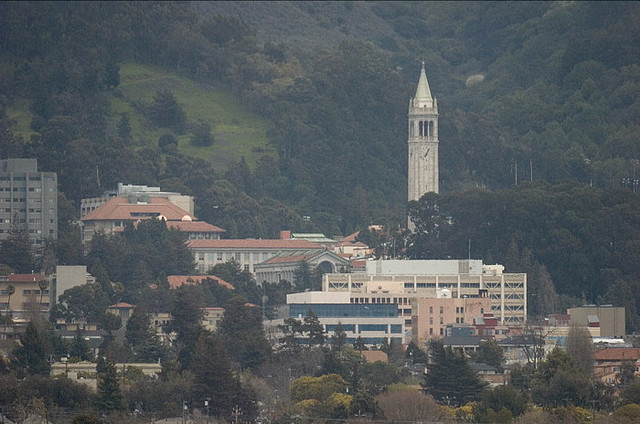 The UC Berkeley campus as viewed from the marina area. (Studio H/Flickr)