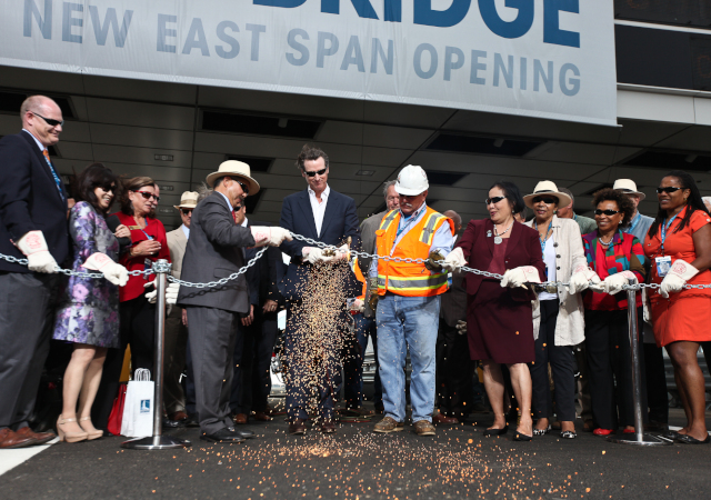 east span opens