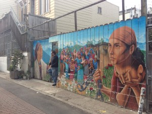 The Mission is known for its colorful, often political murals. (Sam Harnett / KQED)