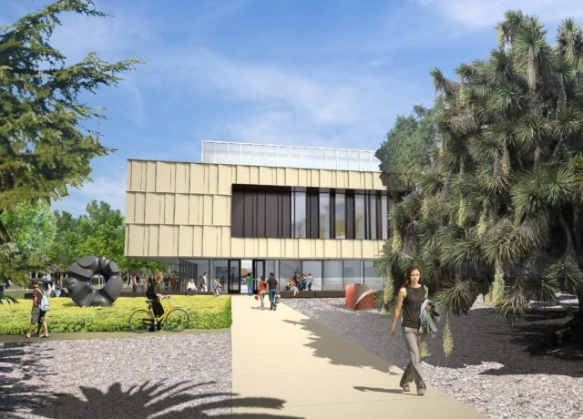 Artist's rendering of the museum building for the Anderson Collection at Stanford University. (Courtesy Stanford University.)