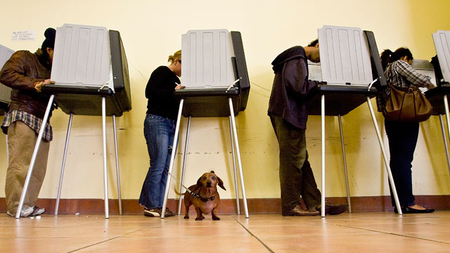 The outlook isn't great for voter turnout tomorrow. (David Paul Morris/Getty)