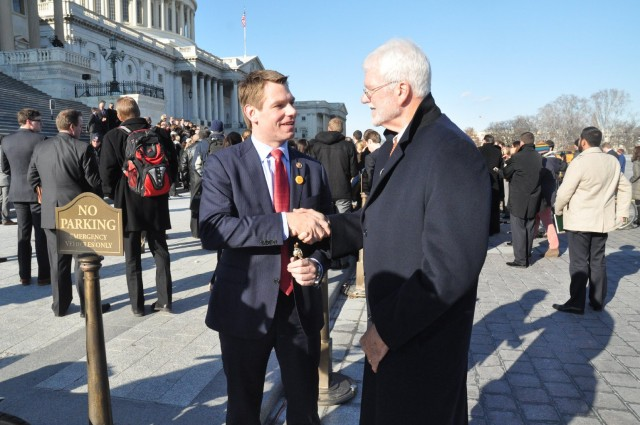Rep. George Miller of Martinez, right, with Rep. Eric Swalwell of Pleasanton at the U.S. Capitol. (Photo: Office of Rep. George Miller)