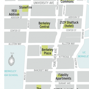 More than 1,400 units are in the works for downtown. (Downtown Berkeley Association)