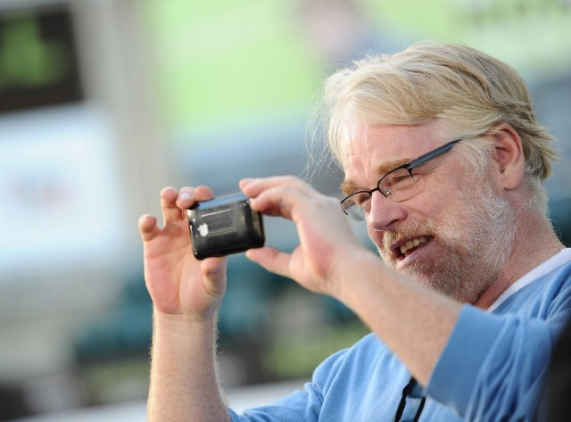 "Actor Philip Seymour Hoffman, who died Sunday at the age of 46, is shown at Oakland's Paramount Theatre in September 2011 for the premiere of the film ""Moneyball."" Hoffman portrayed former Oakland A's Manager Art Howe in the film. (Michael Buckner/Getty Images)"