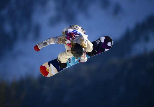 South Lake Tahoe's Jamie Anderson competes in Olympic slopestyle opening round. (Javier Soriano/Getty Images)