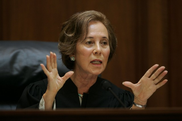 California Supreme Court Associate Justice Joyce Kennard, during 2009 arguments over state's same-sex marriage ban, Proposition 8. (Getty Images)
