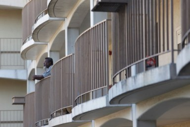 """Many residents of the Hacienda housing complex call it """"Haci-hellhole""""or """"Bedbug City."""" One-fifth of the building's apartments were infested with bedbugs, according to a 2012 federal inspection. (Lacy Atkins/San Francisco Chronicle)"""