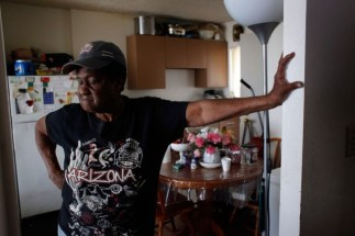"Geneva Eaton says she has lost any hope that the Richmond Housing Authority will help with problems at its Hacienda apartment complex.""I wanna go someplace else, but I don't have anywhere else to go,"" she says. ""They treat us like animals here."" (Lacy Atkins/San Francisco Chronicle)"