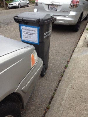 More impromptu parking control. (Dan Brekke/KQED)