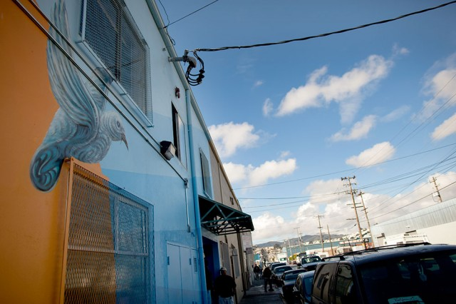 Mother Brown's Dining Room, a soup kitchen in Bayview-Hunters Point, wants to add a 100-bed homeless shelter (Mark Andrew Boyer / KQED)