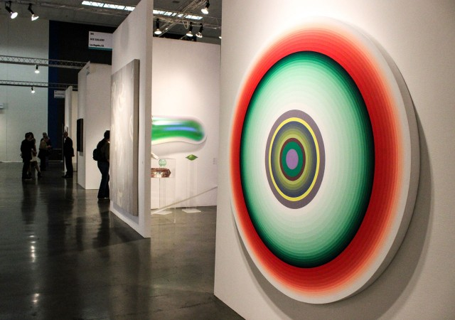 Art on display at the inaugural Silicon Valley Contemporary and Modern Fine Art Fair. The fair, which ran from April 10 to 13, focused on the convergence of technology and art, showcasing works inspired by the digital world. (Katie Brigham/Peninsula Press)