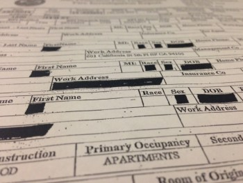 San Francisco Fire Department fire investigation report. (Lisa Pickoff-White/KQED)