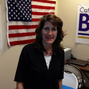 Catharine Baker at her campaign office in San Ramon. (Cy Musiker/KQED)