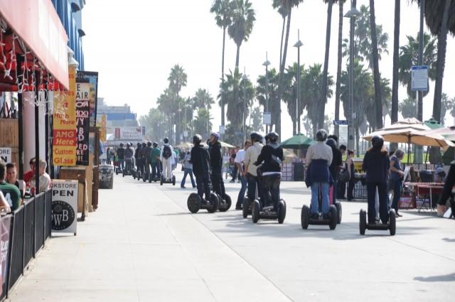 Segways on the Venice Beach Boardwalk. (www.YoVenice.com/Flickr)