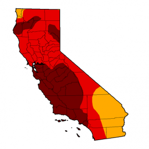 More than 80% of California is now in severe drought, according to the U.S. Drought Monitor. (Courtesy of U.S. Drought Monitor)