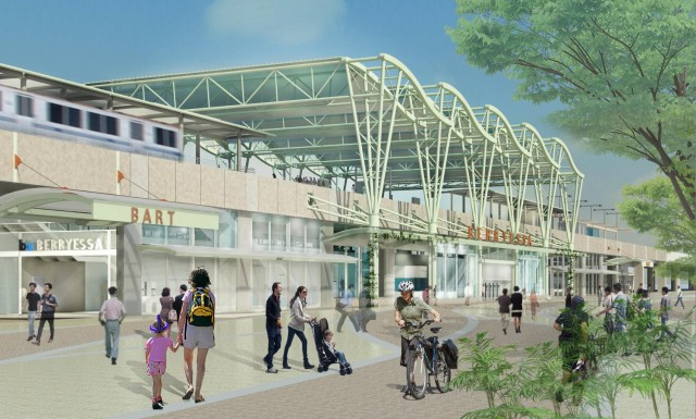 Rendering of the planned BART Berryessa Station in San Jose. (VTA)