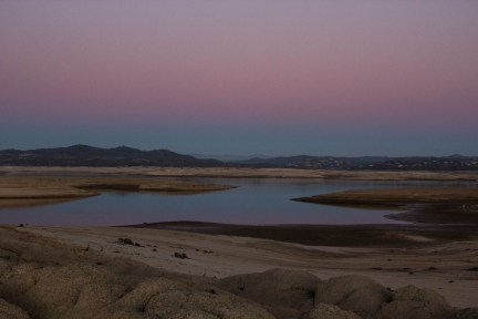 Folsom Lake, California's No. 11 reservoir, in January 2014.
