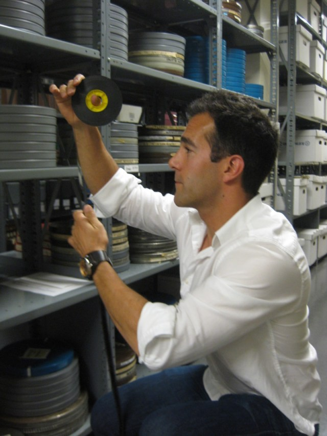 Archivist Alex Cherian finds old news footage and loads it up online.