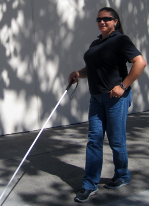 Lisamaria Martinez, who is legally blind, moved from Los Angeles to the Bay Area for its public transportation. (Photo Courtesy Lighthouse SF)