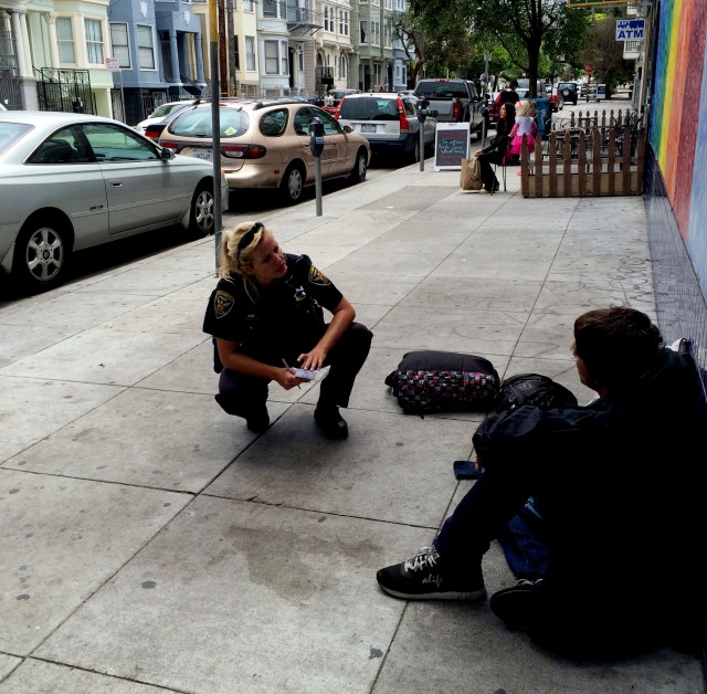 SFPD Officer Elizabeth Prillinger is one of the officers who has gone through the training. (Rachael Bale/KQED)