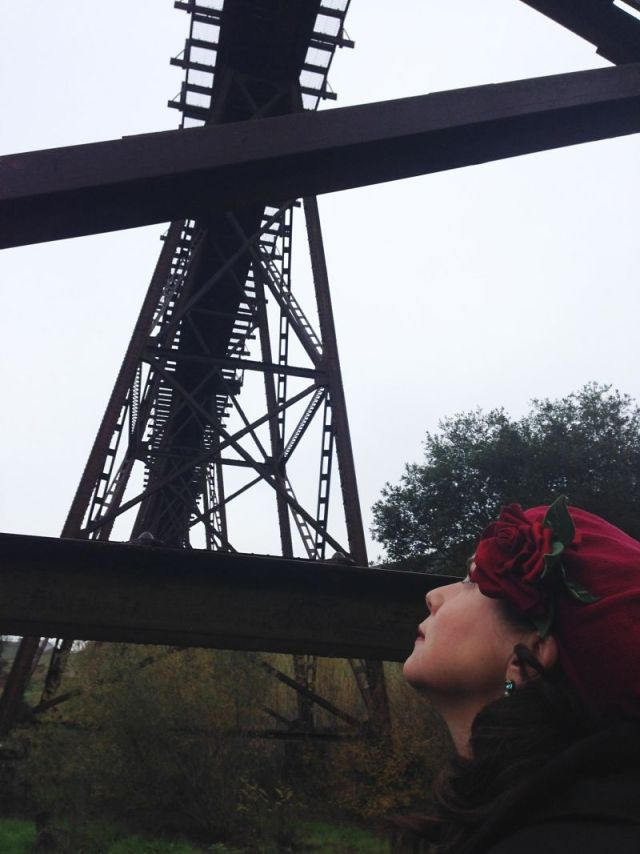 """San Luis Obispo resident Heidi Harmon describes Stenner Creek Trestle as """"stunning to look at but terrifying to consider a mile-and-a-half long oil train coming over."""""""