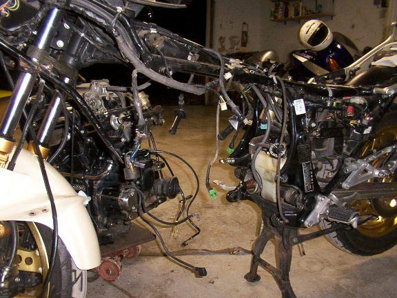 Would a 82 CX500 Turbo bolt up into a 78 CX500 frame? - Honda CX500
