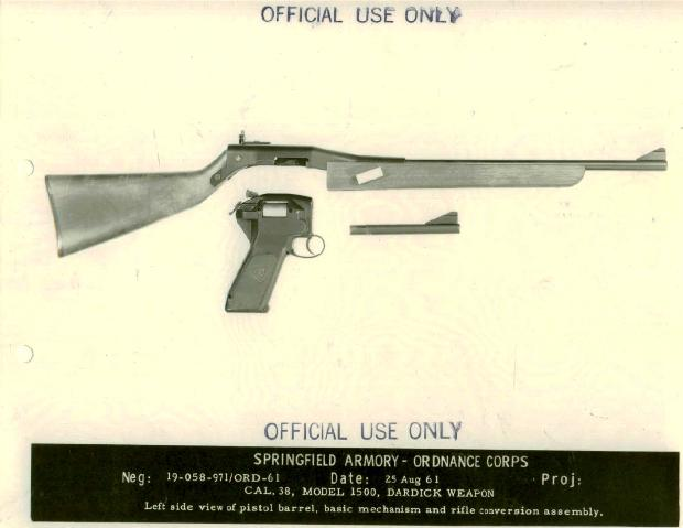 DARDICK REVOLVER M1500 38 SN# 1013 Manufactured by Dardick - firearm bill of sales
