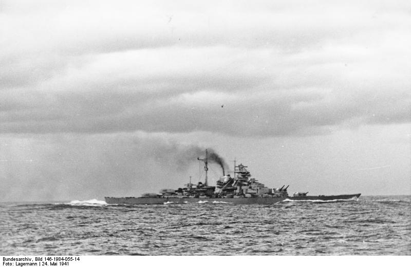 Photo Battleship Bismarck Withdrawing From The Battle Of