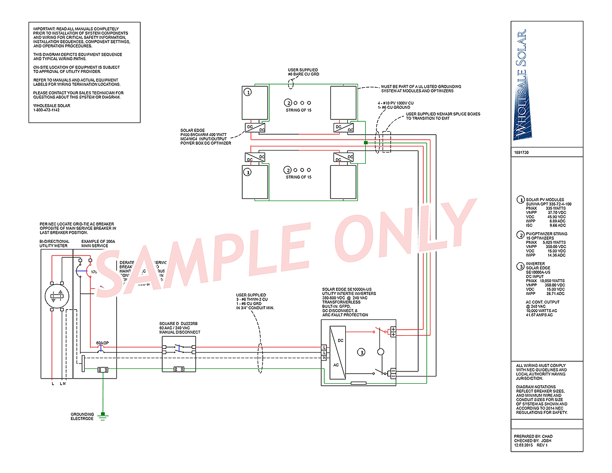 solar power no battery wiring diagram