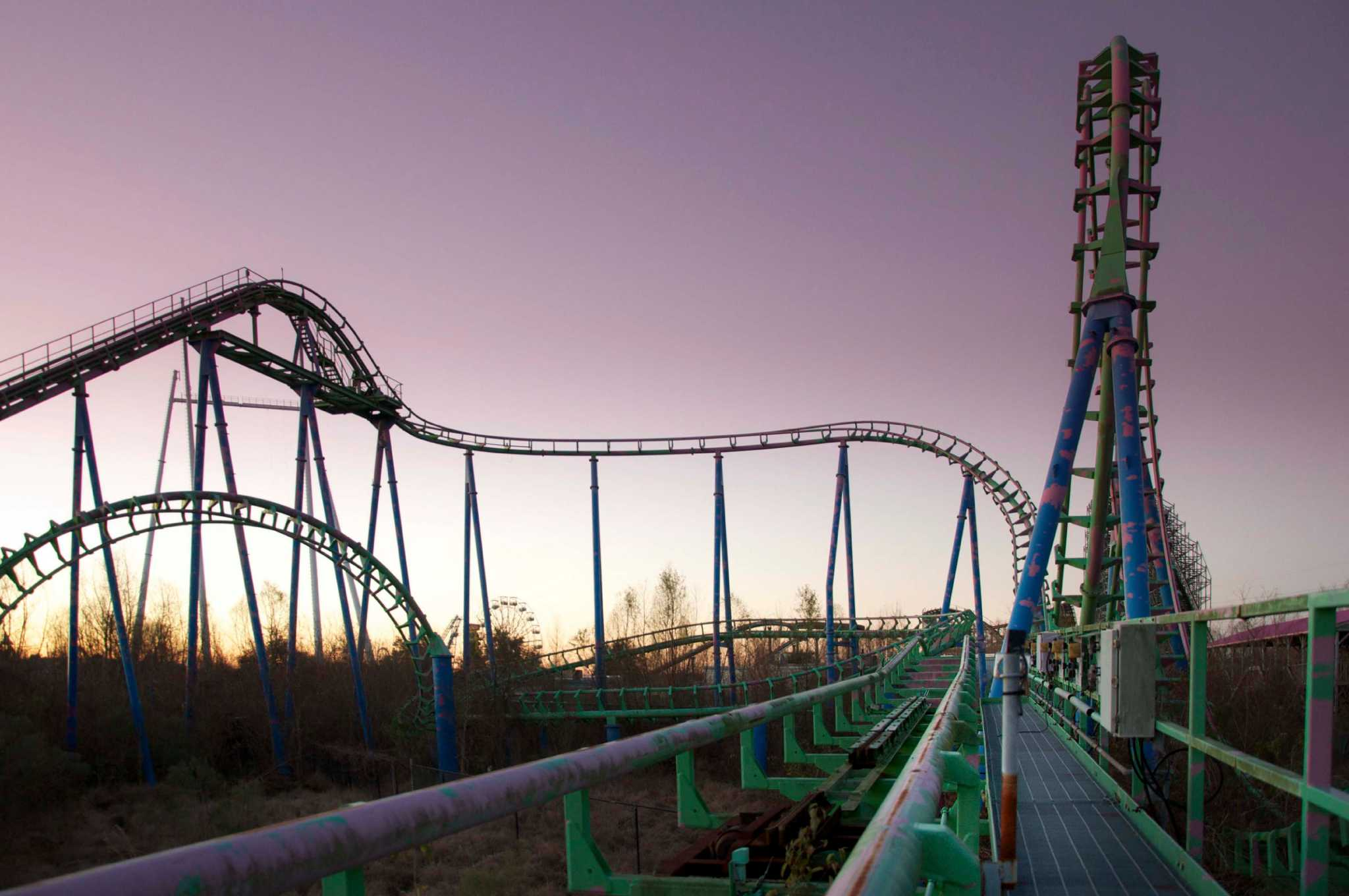 Six Flags Jazzland Photos Show Desolate Abandoned Six Flags New Orleans 10