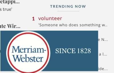 United We Slam: Merriam-Webster Volunteers Definition of 'Volunteer' - Houston Chronicle