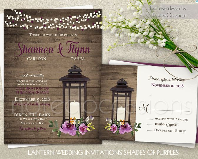 Noted Occasions Wedding Invitation Designs - Invitations - Friday - invitation designs