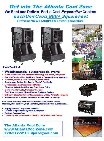 Party Rental Georgia-Dance Floors, Air Coolers, Portable Bars - party rental flyer